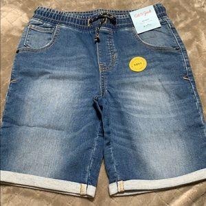 Cat & Jack boys super soft denim skinny shorts